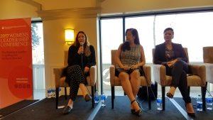 MSMU Women's Leadership Conference Suzanne Lerner, Karen Chong, Cristina Mancini Jones